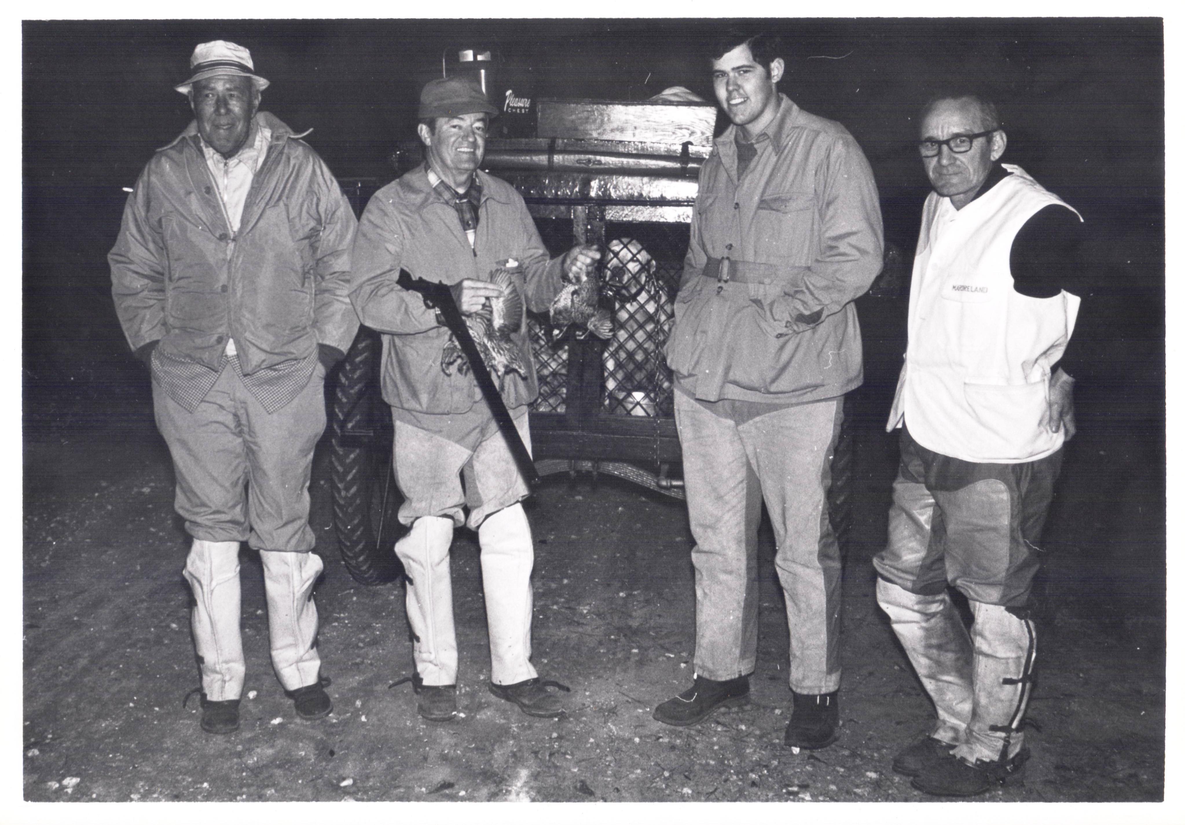 Hubert Humphrey with Ford Bell, Jr. at Mardreland Plantation, 1968