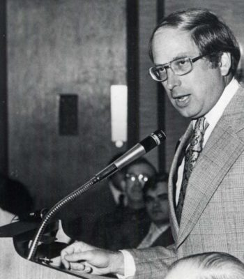 Senator Sam Nunn Speaks at the Plaza Restaurant, c.1975