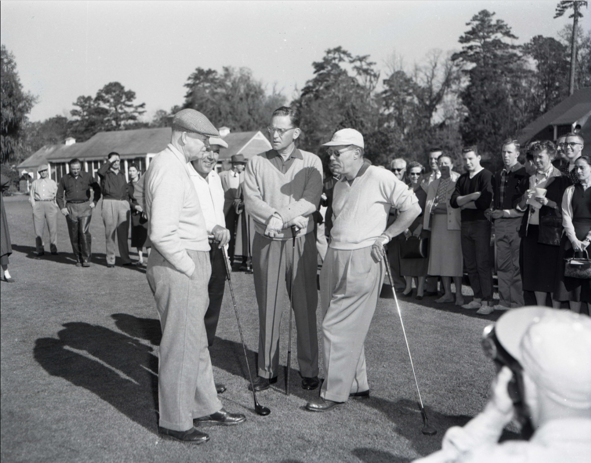 President Eisenhower Playing Golf at Glen Arven Country Club, February 17, 1956