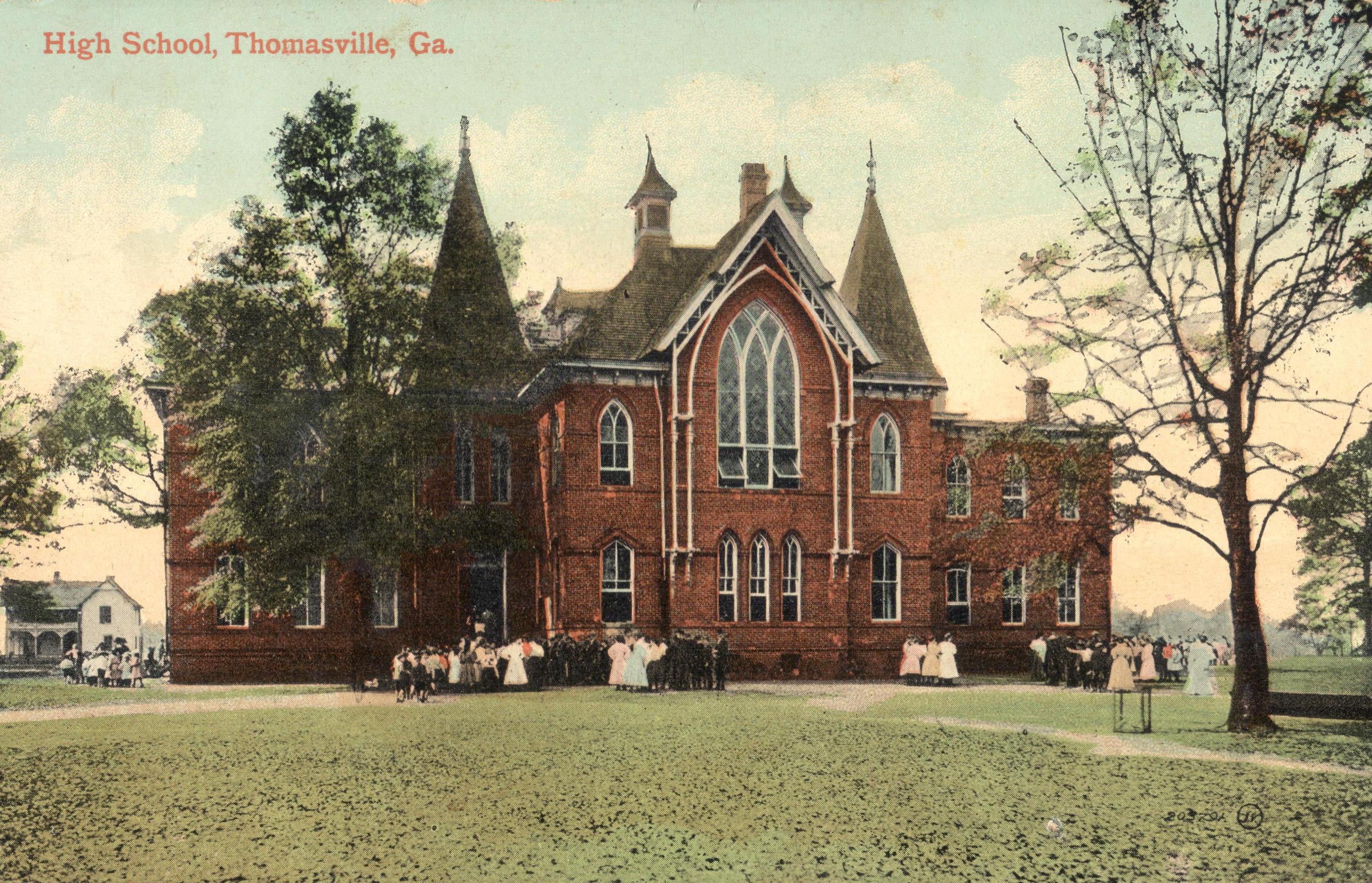 Thomasville High School in the old Fletcherville School Building, c.1901