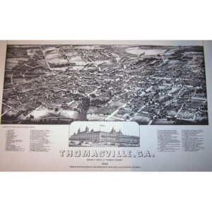1885 Birds Eye Map B&W