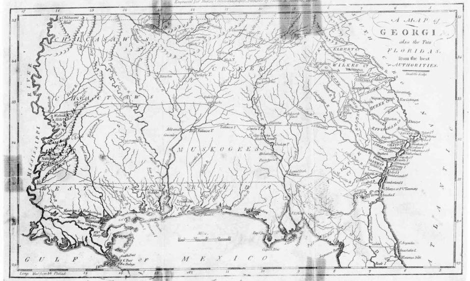 Georgia map 1798