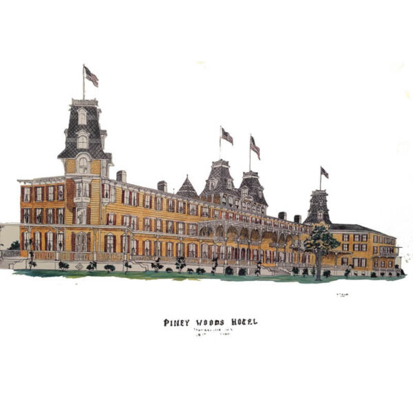 Piney Woods Hotel Poster- Color