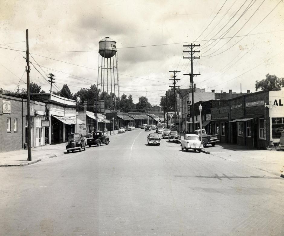 Jackson Street - West 300 Block Looking East - c.1960