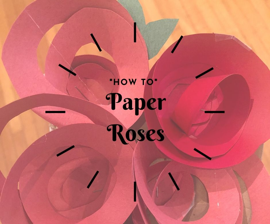 how to paper roses
